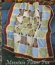 Mountain Flower Fun Quilt Pattern Pieced LM