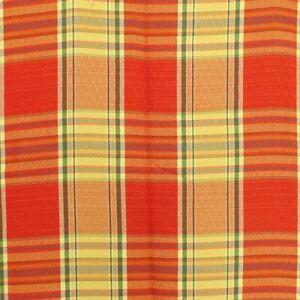 1.2 Yards Brocade Fabric Maroon Check Home Decor Upholstery