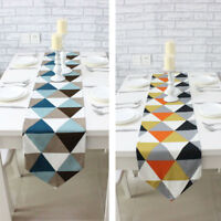 Table Runner European Geometric Pattern Home Dining Room Party Decor Tablecloth