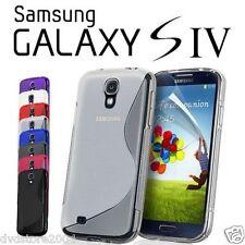 Custodia morbida per Samsung Galaxy S4 I9500 S + pellicola display cover guscio