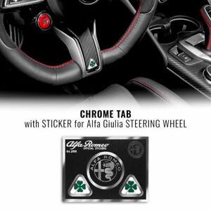 Adesivo Quadrifoglio Verde per Volante Alfa Romeo Giulia M.Y. 2020