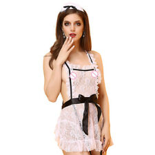 Sexy Lingerie Women's Costume SM Cosplay  Uniform French Maid Outfit Fancy Dress