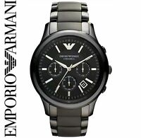 Emporio Armani AR1452 Men's Black Ceramic Chronograph Designer Watch NEW