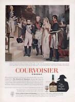 1963 Courvoisier Cognac Vintage Brandy of Napoleon & Queen of Prussia PRINT AD