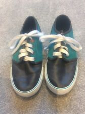 Boys Next Teal Green & Grey Suede Trainers size 13