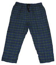 NEW BIG & TALL HARBOR BAY MEN'S BLUE GREEN PLAID FLANNEL LOUNGE PANTS PJS