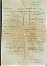 OMAN Muscat Affairs of the Royal Court Used Document Paper 1983 CONDITION AS PER