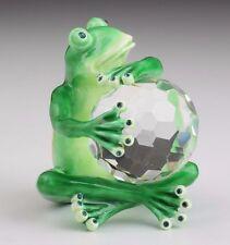 Frog w/ Crystal  Trinket Box by Keren Kopal with Austrian Crystal