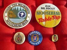 Lot 65 badges broches PINs biere  BRASSERIE AUSTRALIE MEXIQUE USA CANADA VINTAGE