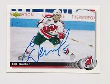 92/93 Upper Deck Eric Weinrich New Jersey Devils Autographed Hockey Card