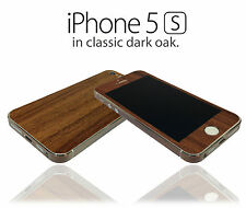 Textured Wood Effect Skin For iPhone 5s Wrap Cover Sticker Protector Case Decal