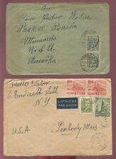 Pologne 1921-63 tous aux États-Unis... Multi frankings... 9 couvre