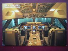 POSTCARD AIR JAPAN AIRLINES BOEING 747-400 COCKPIT