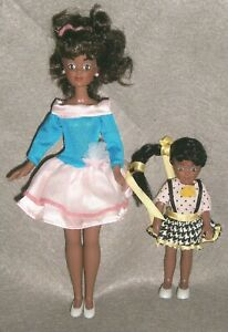 VINTAGE 1992 REMCO ~ THE BABYSITTERS CLUB DOLLS, JESSI & BECCA w/ ORIG OUTFITS