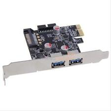 PCI-E to USB 3.0 2 Port PCI Card Adapter Internal Connector 19-pin Header New