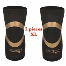 Copper Fit PRO Series Performance Compression Knee Sleeve Brace - 2 PACK XLarge