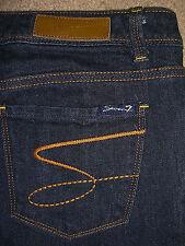 SEVEN 7 PREMIUM Capri Crop Stretch Dark Blue Denim Jeans Womens Size 26 x 27.5