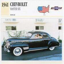 1941 CHEVROLET MASTER SIX Classic Car Photograph / Information Maxi Card