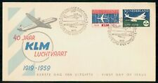 Mayfairstamps Netherlands FDC 1959 KLM Combo First Day Cover wwh_21521
