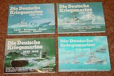 DIE DEUTSCHE KRIEGSMARINE 1935-1945 - BAND 1 bis 4 / WELTBILD-PODZUN / WK II (2)