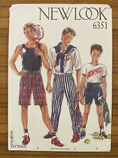 NEW LOOK - 6351 BOY'S TEENAGER PANTS SHORTS 4 5 6 7 8 9 10 11 12yrs UNCUT