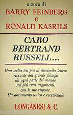 BARRY FEINBERG RONALD KASRILS CARO BERTRAND RUSSELL LONGANESI 1971