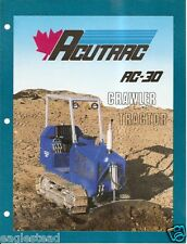 Equipment Brochure - Acutrac - AC-30 - Crawler Tractor - Loader 2 item (E2541)