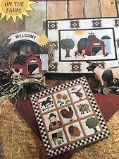 "Debbie Mumm ""Down On The Farm"" Wall Hanging, Sampler & Wreath Patterns"