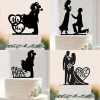Bride Groom Wedding Cake Topper Engagement Party Decor Mr & MRS Cake Topper