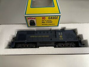 Atlas HO Gauge RS-11 Diesel No. 7092 Norfolk & Western #345 Locomotive