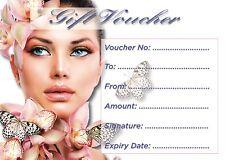 Beauty Salon nails/sunbed gift certificate etc x 10 plus envelopes....