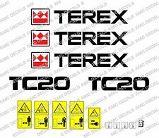 TEREX TC20 DIGGER DECALS & WARNING STICKERS