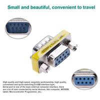 Mini Serial Null Modem Cable Adapter Converter M/F Male and Female DB9 RS232