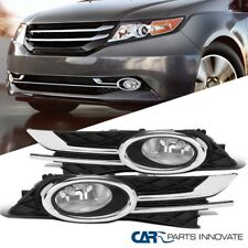 For 14-16 Honda Odyssey Clear Fog Lights Front Driving Bumper Lamps Pair+Switch
