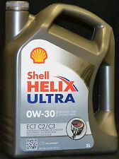 5 Liter Shell Helix Ultra ECT 0W-30 C2/C3 0W30 Motoröl VW 507.00 MB 229.52 Fiat