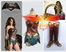 Custom Size Justice League Wonder Woman Diana Prince Cosplay Costume+ Shoes