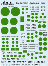 Libyan Air Force 1/72nd scale decals