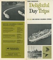 1960s British Columbia Ferries Travel Brochure Ferry Vancouver Tours Trips Boat