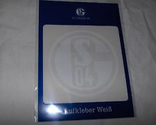 FC SCHALKE 04 - Auto-Aufkleber  8cm, Farbe: weiß -- Neu,OVP,Lizenzartikel