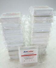Lot Of 20 Amlabs Premium Microscope Slides Am 1800 Ultra White 72 Slidespack