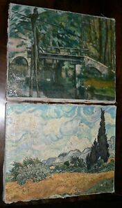Two Small Oil Paintings on Canvas. Unframed.