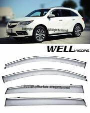 For 14-16 Acura MDX WellVisors Smoke Side Window Visors Deflectors Rain Guard