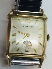 Wittnauer Gold Filled & Steel Manual Wind Fancy Lugs Mens Watch