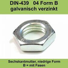 M3 DIN 439 04 verzinkte Sechskantmuttern Flache Form Muttern BM 3,0 / 20-500 St.