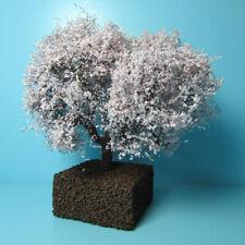 "Dollhouse Miniature Beautiful Outdoor 4"" Flowering Pink Cherry Landscape Tree"