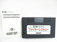 MSX FIRE RESCUE No Case Cartridge GOOD Condition Japan Video Game MSX