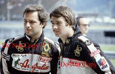 Elio De Angelis & Nigel Mansell JPS Lotus F1 Portrait 1983 Photograph 1