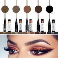 1PC Microblading Tattoo Eyebrow Pencil Ink Fork Tip Pen Eye Brow Women Makeup