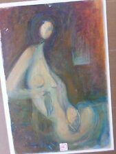 Bernard PELTRIAUX (1921-1999)-Tableau-Huile-Abandon- femme-nu-Peinture-OIL