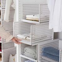 Faltbare stapelbare Schublade Typ Ablagekorb für Schlafzimmer Kleiderschrank